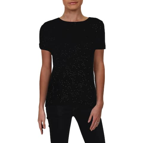 Private Label Womens Pullover Sweater Cashmere Sequined - S