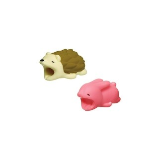iPhone & Android Cable Protectors Animal Biters - 2pk Hedgehog Bunny