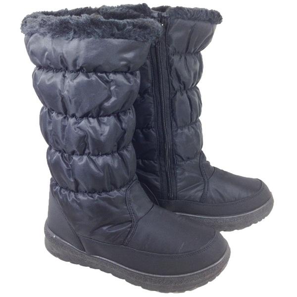 Anna Almeida Elise Women Winter Cold Weather Snowboots Lace Up Zipper - elise black