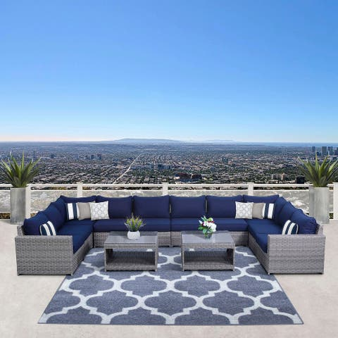 Kensington 12 Piece Sectional Seating Group with Cushions