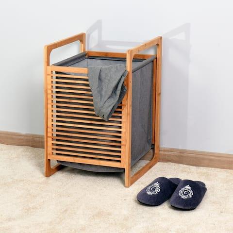 Nestfair Natural Bathroom Laundry Basket Bamboo Storage Basket
