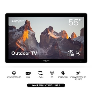 Link to Suncast 55in Outdoor Partial Shade 4K UHD LED TV - Black - N/A Similar Items in Televisions