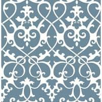 Brewster 2625-21865 Axiom Blue Ironwork Wallpaper