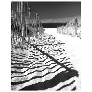 ''Shadowed Pathway'' by Anon Coastal Art Print (14.5 x 11.5 in.)