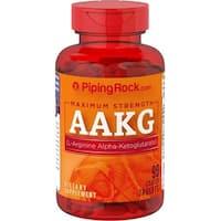 Piping Rock Maximum Strength Arginine AAKG (Nitric Oxide Enhancer), 1200 mg, 90 Coated Caplets Dietary Supplement - RED - 90 cap