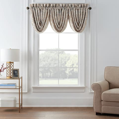"""Waterford Andria Waterfall Valance Set of 3 - 42.5"""" x 33"""""""