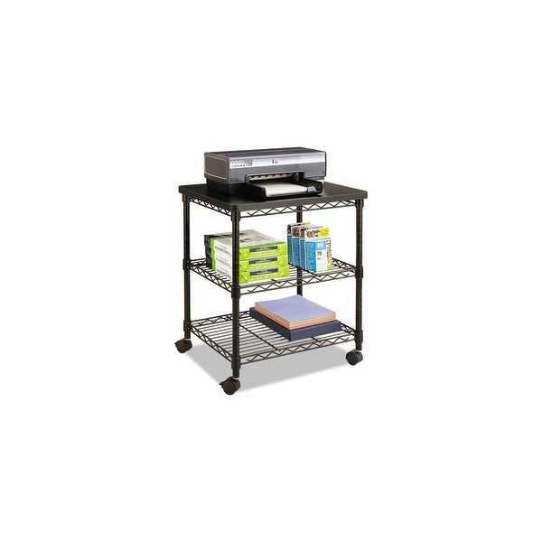 Safco Desk Side Wire Machine Stand, Three-Shelf Desk Side Wire Machine Stand