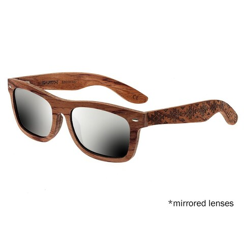 Earth Wood Maya Unisex Wood Sunglasses - 100% UVA/UVB Prorection - Polarized/Mirrored Lens - Multi