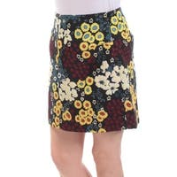 RACHEL ROY Womens Yellow Floral Above The Knee A-Line Skirt  Size: 0