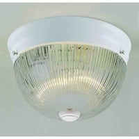Volume Lighting V7158 2 Light Flush Mount Ceiling Fixture with Clear Ribbed Glas