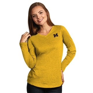 University of Michigan Ladies Heather Jersey V-Neck Tee