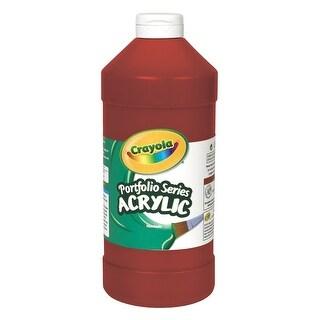 Crayola Portfolio Non-Toxic Acrylic Paint, 1 pt Squeeze Bottle, Deep Red