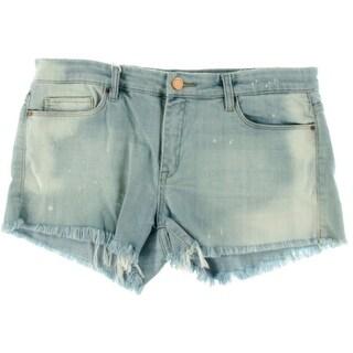 Blank NYC Womens Denim Distressed Cutoff Shorts - 25