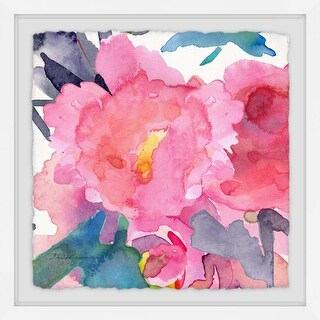 """Marmont Hill MH-MWW-EVELIA-13-WFPFL-40 40 Inch x 40 Inch """"Pink Peonies II"""" Frame - N/A"""