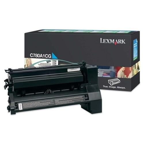 Lexmark C780A1CG Lexmark Return Program Cyan Toner Cartridge - Cyan - Laser - 6000 Page - 1 Each