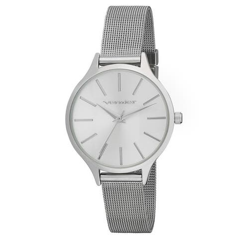 Vernier Womens Round Case Long Index Mesh Strap Watch