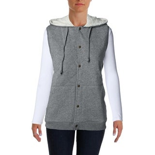 Alternative Womens Ashcreek Quilted Shearling Outerwear Vest - L