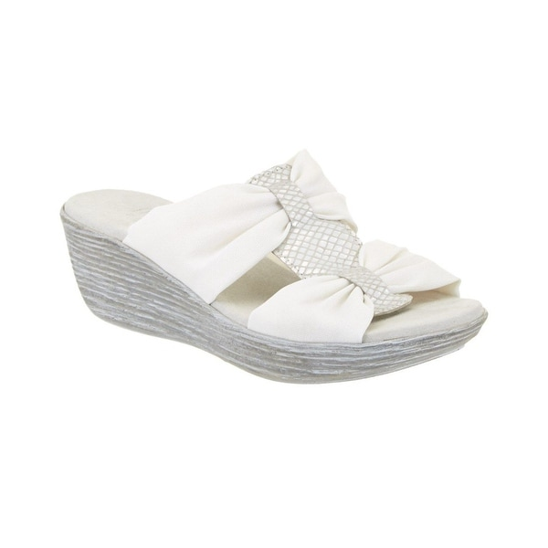 7aa154f05e37a Munro NEW White Vanessa Shoes Size 5W Platforms & Wedges Sandals