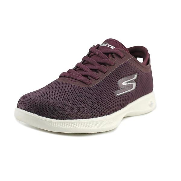 Skechers Go Step Lite - Persistence Women Round Toe Canvas Burgundy Sneakers