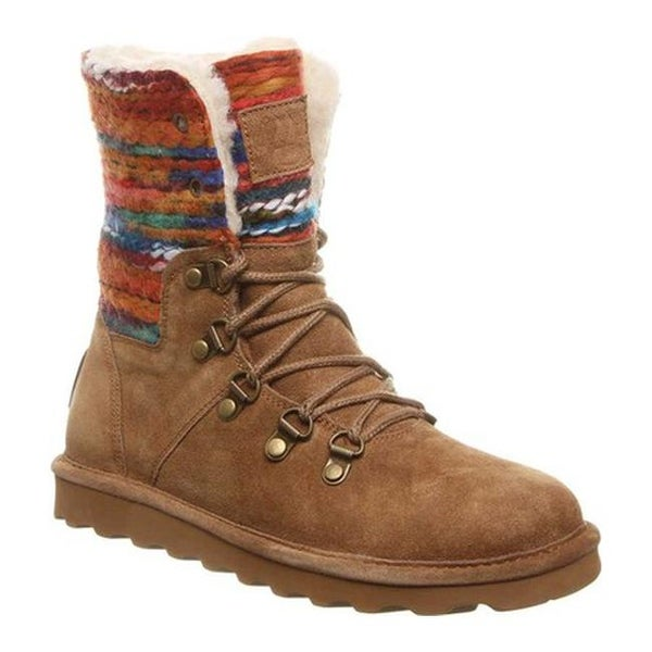 25d404612f95 Shop Bearpaw Women s Maria Lace Up Boot Hickory II Suede Textile ...