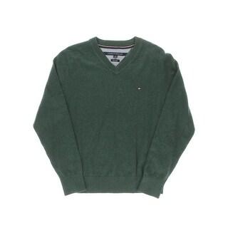 Tommy Hilfiger Mens Signature V-Neck Pullover Sweater