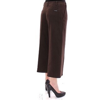 Dolce & Gabbana Brown Cotton Cropped Chinos Jeans Pants - it40-s
