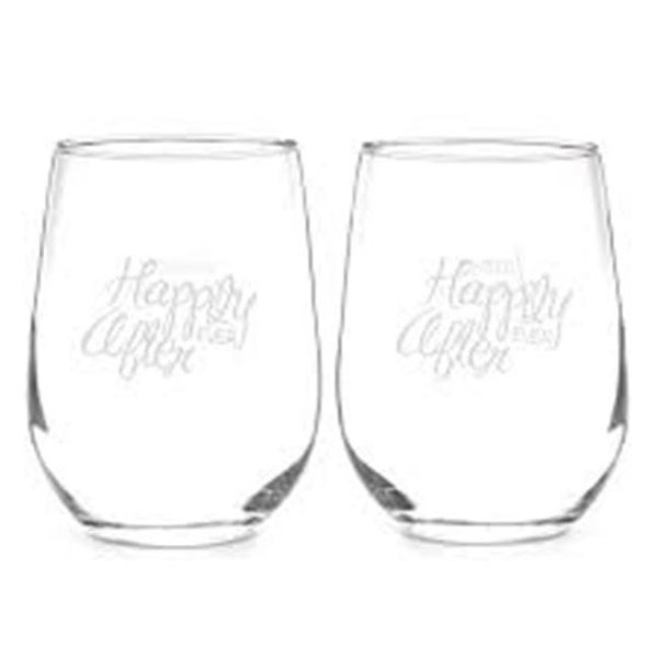 634b1121ff3 Shop Hortense b Hewitt 20511P Happily Ever After Stemless Wine Glass Set -  Free Shipping Today - Overstock.com - 22303870