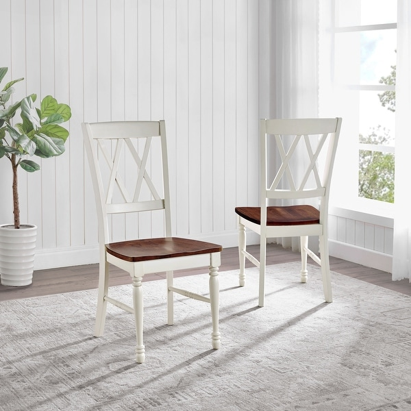 "Shelby Dining Chair in White Finish (Set of 2) - 17.75 ""W x 23.5 ""D x 39 ""H. Opens flyout."