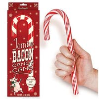 """Jumbo 10.25"""" Bacon Flavored Candy Cane - Multi"""