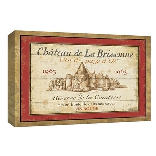 """PTM Images 9-153831  PTM Canvas Collection 8"""" x 10"""" - """"French Wine Label I"""" Giclee Text and Symbols Art Print on Canvas"""