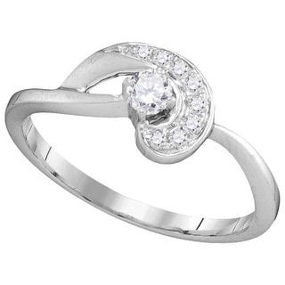 1/5Ctw Diamond Bridal Engagement Ring 10K White-Gold