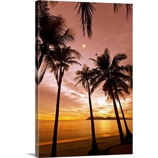 """""""Sunset beach"""" Canvas Wall Art"""