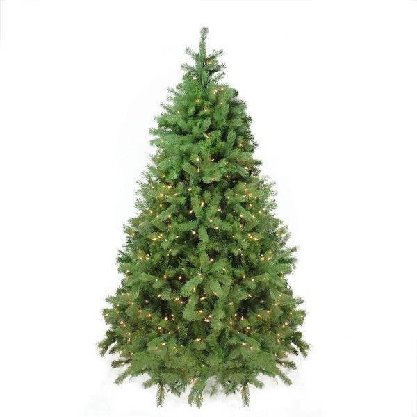 6.5' Pre-Lit Noble Fir Full Artificial Christmas Tree - Clear Lights - green