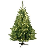 4 ft. Kincaid Spruce Tree with Clear Lights - green