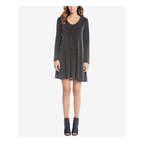 KAREN KANE Black Long Sleeve Above The Knee Dress S