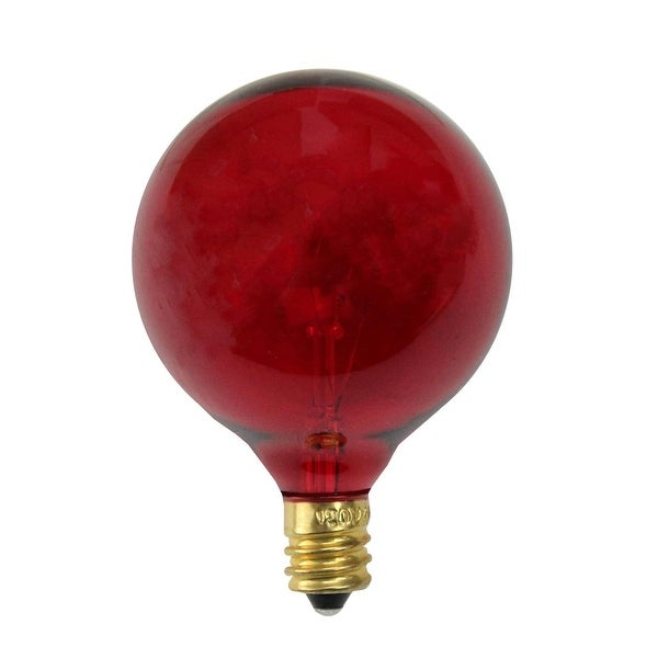 Pack of 25 Incandescent G50 Red Christmas Replacement Bulbs