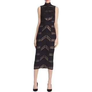 Cinq a Sept Womens Nile Cocktail Dress Lace Ruffle