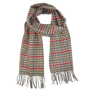 David & Young Softer Than Cashmere Houndstooth Winter Scarf - One Size