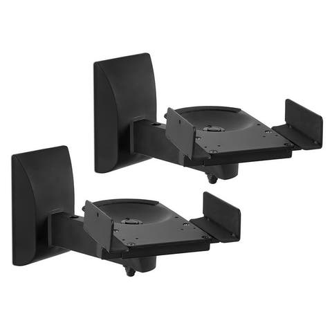 Mount-It! Pair of Universal Side Clamping Bookshelf Speaker Mounting Brackets