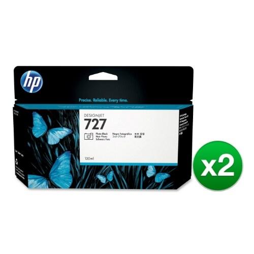 HP 727 130-ml Photo Black DesignJet Ink Cartridge (B3P23A) (2-Pack)