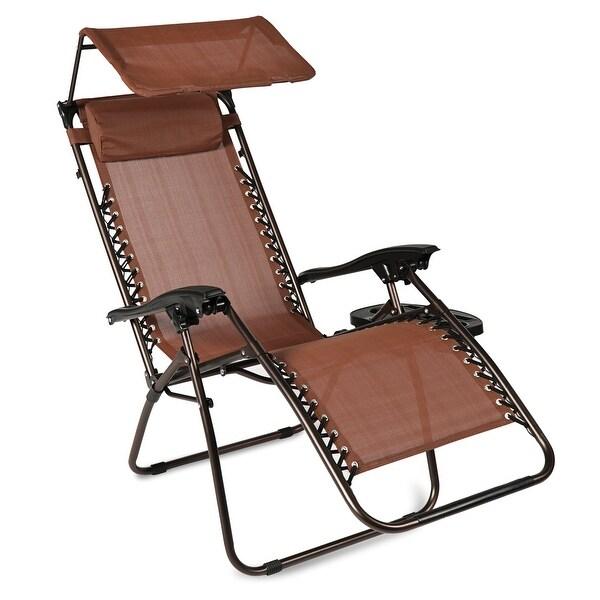 Shop Belleze Zero Gravity Chair Shade Blocker Folding