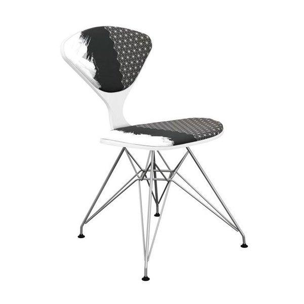 Nye Koncept White U0026amp; Chrome Emmet Eiffel Chair   Starlight Abstraction