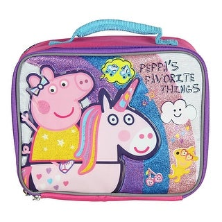 Peppa Lunch Box Soft Kit Insulated Cooler Bag Pig Favorite Things