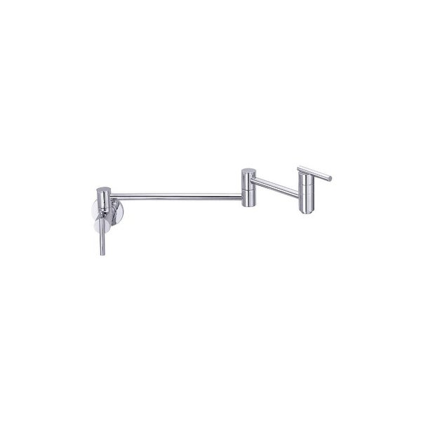"Danze D205058 Parma Wall Mounted Pot Filler Faucet with 22"" Double-Jointed Swinging Spout"