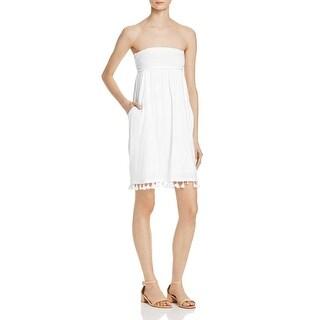 Velvet Womens Casual Dress Strapless Tassel - m
