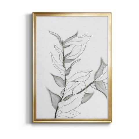CHARCOAL FOLIAGE I Premium Framed Canvas - Ready to Hang