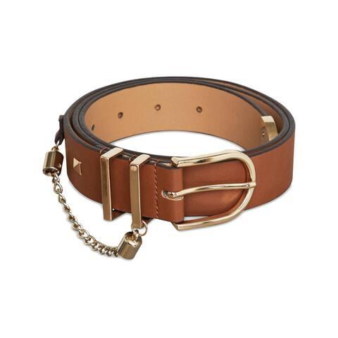 BCBGeneration Womens Fashion Belt Faux Leather Chain