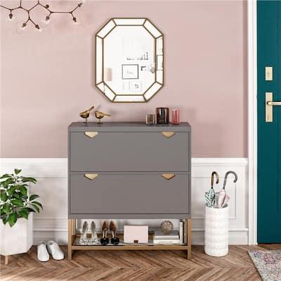 CosmoLiving by Cosmopolitan Brielle Entryway Shoe Storage Cabinet