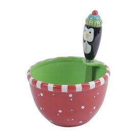 Silvestri Let It Snow Penguin Dip Bowl and Spreader