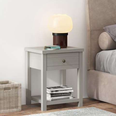 Living Essentials by Hillsdale Harmony Wood Accent Table - 23.25H x 18.5W x 15.75D